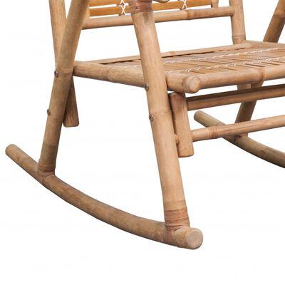 vidaXL Gungstol i bambu