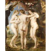 The Three Graces,Peter Paul Rubens,50x40cm