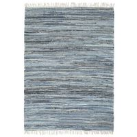 vidaXL Handvävd matta Chindi denim 80x160 cm blå