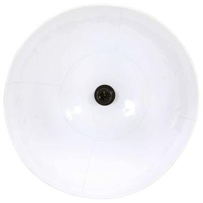 vidaXL Hänglampa 25 W vit rund 48 cm E27