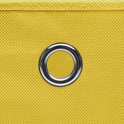 vidaXL Förvaringslådor 4 st gul 32x32x32 cm tyg