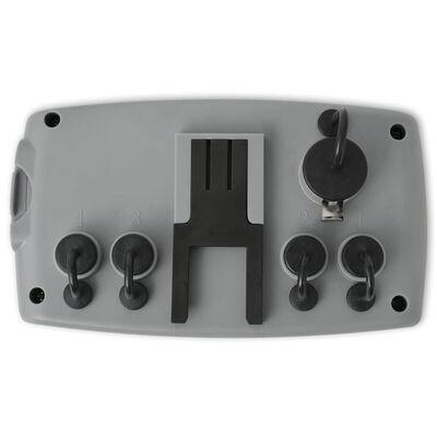 vidaXL Automatiskt bevattningstimer med 4 stationer och fuktsensor 3V