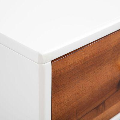 vidaXL Soffbord massivt akaciaträ 90x50x40 cm