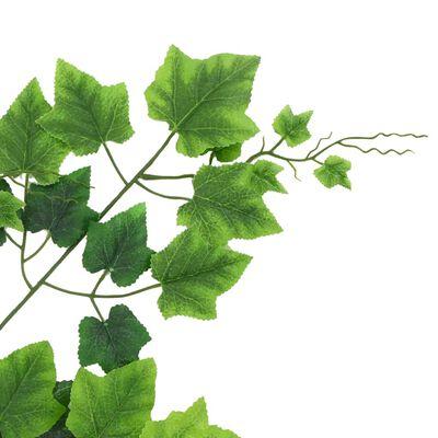 kvidaXL Konstgjorda blad vindruva 10 st grön 70 cm, Grön