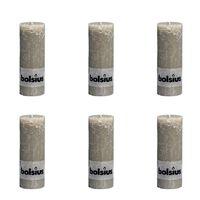 Bolsius Blockljus 190x68 mm skiffergrå 6-pack