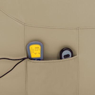 vidaXL Massagefåtölj med uppresningshjälp cappuccino konstläder