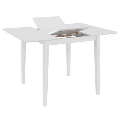 vidaXL Utdragbart matbord (80-120)x80x74 cm vit MDF