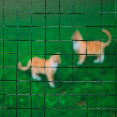 Nature Ståltrådsnät fyrkantig 0,5x5 m 13 mm plastbelagd stål grön