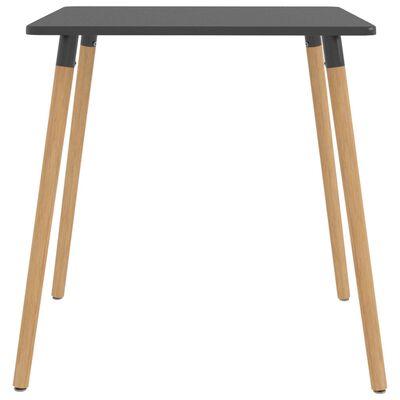 vidaXL Matbord grå 80x80x75 cm metall
