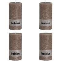 Bolsius Blockljus 200x100 mm taupe 4-pack