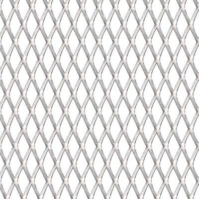 vidaXL Sträckmetall rostfritt stål 50x50 cm 20x10x2 mm
