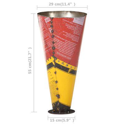 vidaXL Paraplyställ flerfärgad 29x55 cm järn