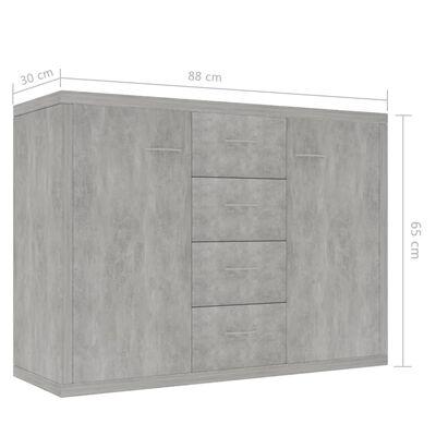 vidaXL Skänk betonggrå 88x30x65 cm spånskiva