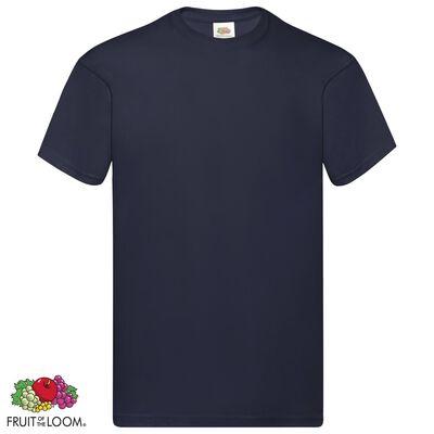 Fruit of the Loom Original t-shirt 5-pack mörk marinblå stl 3XL bomull