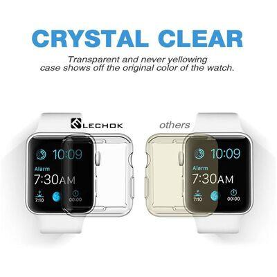 Apple Watch 42mm Serie 2/3 heltäckande skärmskydd - transparent