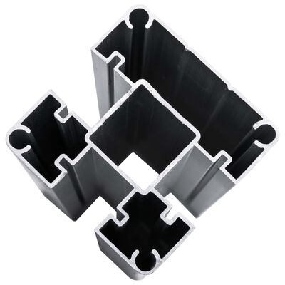 vidaXL Staketpanel WPC 353x186 cm svart,