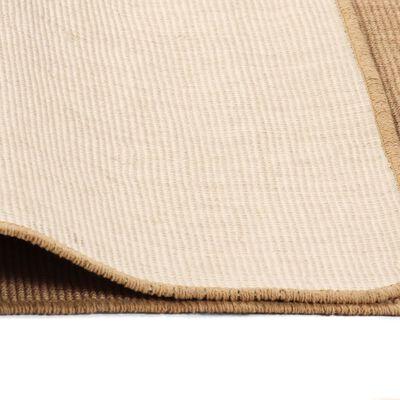 vidaXL Jutematta med latexundersida 120x180 cm naturlig