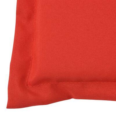vidaXL Bänkdyna för trädgården 120x50x4 cm röd