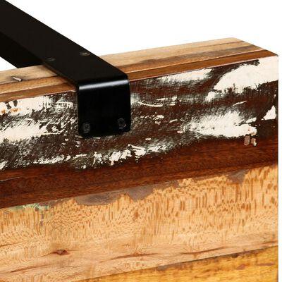 vidaXL Konsolbord massivt återvunnet trä justerbar