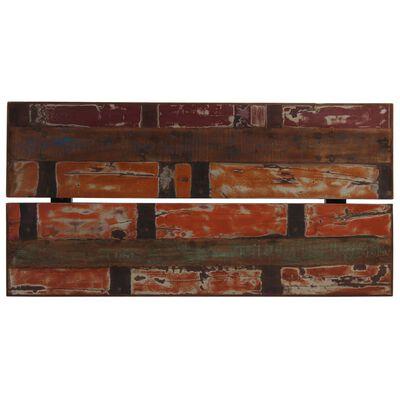 vidaXL Barbord massivt återvunnet trä flerfärgat 150x70x107 cm