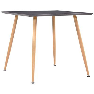 vidaXL Matbord grå och ek 80,5x80,5x73 cm MDF