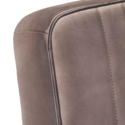 vidaXL Fribärande fåtölj nött brun äkta läder