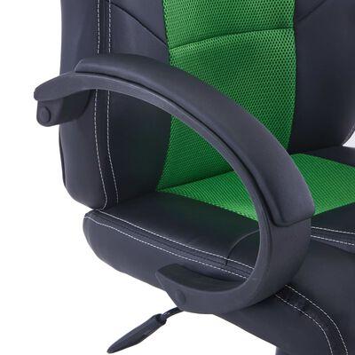 vidaXL Gamingstol grön konstläder, Grön