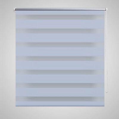 Rullgardin randig vit 80 x 175 cm transparent