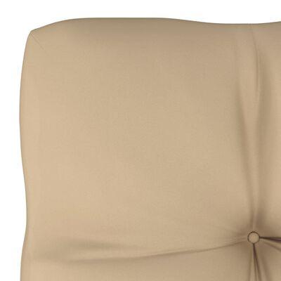 vidaXL Dyna till pallsoffa beige 58x58x10 cm