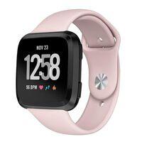 Fitbit Versa armband gummi - beigerosa - S