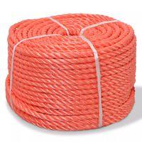 vidaXL Tvinnat rep i polypropylen 12 mm 100 m orange