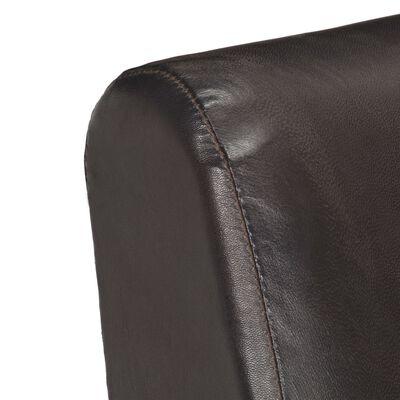 vidaXL Fåtölj grå äkta läder, Grey