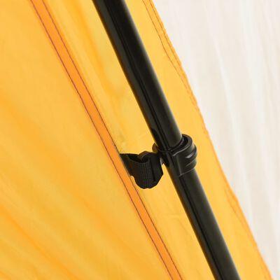 vidaXL Pooltält tyg 660x580x250 cm gul