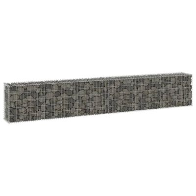 vidaXL Gabionmur i galvaniserat stål 300x30x50 cm