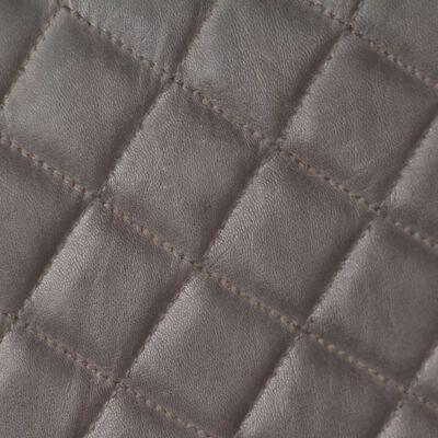 vidaXL Fåtölj grå äkta skinn