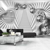 Fototapet - Silver Stairs - 250x175 Cm