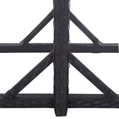 vidaXL Matgrupp för trädgården 3 delar svart