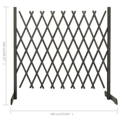 vidaXL Spaljéstaket grå 180x100 cm massivt granträ