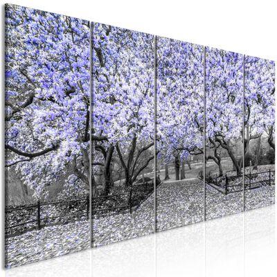 Tavla - Magnolia Park (5 Parts) Narrow Violet - 225x90 Cm
