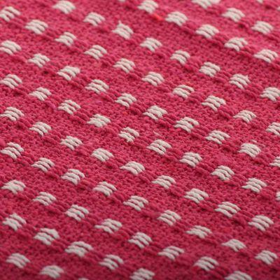 vidaXL Filt bomull fyrkanter 220x250 cm rosa