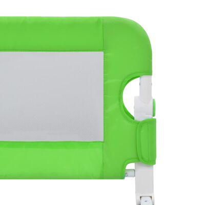 vidaXL Sängskena för barn grön 120x42 cm polyester, Green