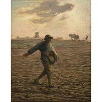 The Sower,Jean Francois Millet,30.8x24.5cm