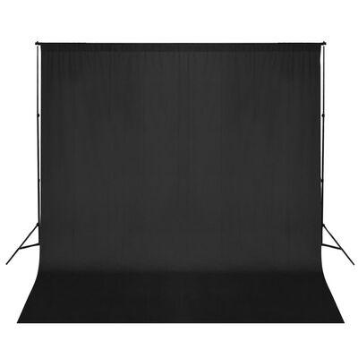 vidaXL Stativ och fotobakgrund 600 x 300 cm svart