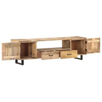 vidaXL Tv-bänk 160x30x45 cm massivt mangoträ