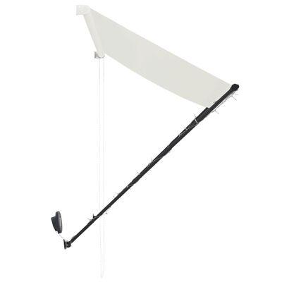 vidaXL Markis med LED 200x150 cm gräddvit
