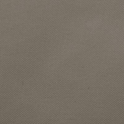 vidaXL Solsegel Oxfordtyg trekantigt 3,5x3,5x4,9 m taupe