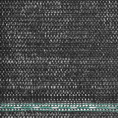 vidaXL Vindskydd för tennisplan HDPE 1x50 m svart
