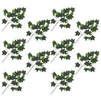 kvidaXL Konstgjorda blad murgröna 10 st grön 70 cm
