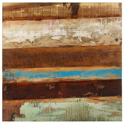 vidaXL Cafébord fyrkantigt 80x80x75 cm massivt återvunnet trä