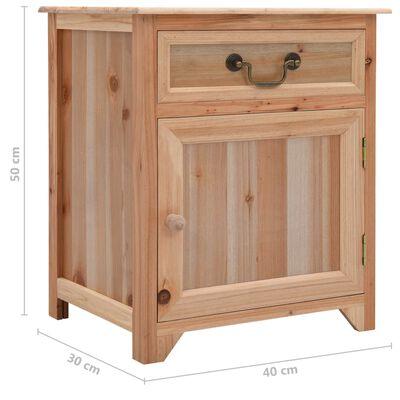 vidaXL Sängbord brun 40x30x50 cm paulownia